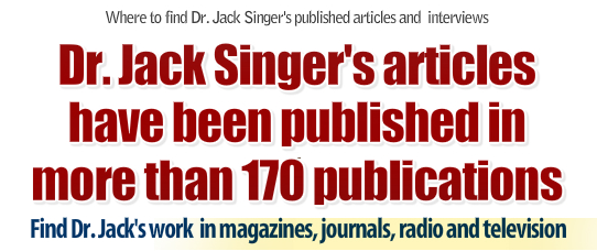 Dr. Jack Singer's articles on sports psychology have been published in more than 170 magazines and journals