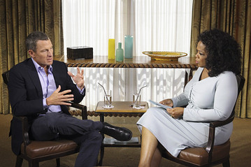 Lance Armstrong and Oprah Winfry